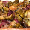 Roasted Brussels Sprouts with Apples and Red Onions