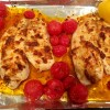 Flaky White Fish with Harissa and Cherry Tomatoes
